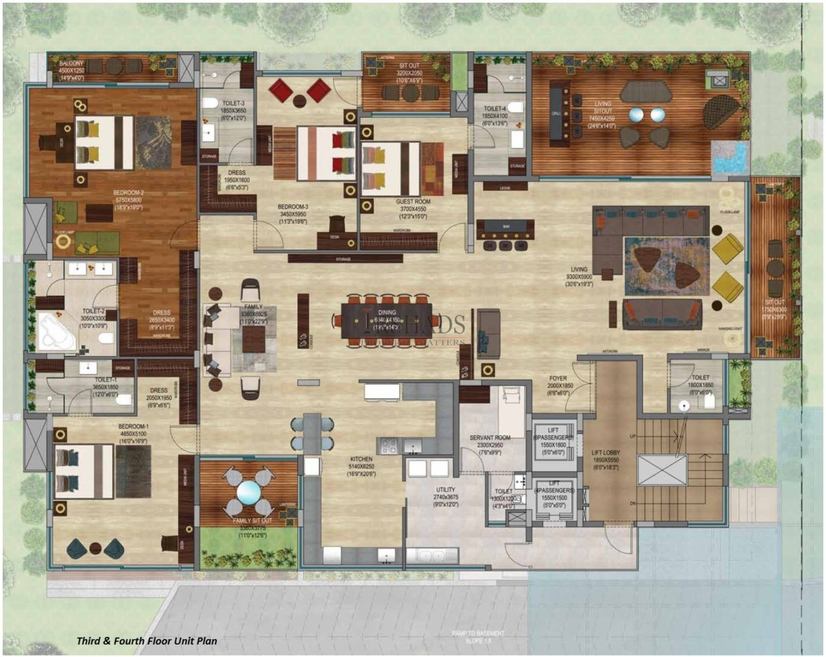 228 by TPL - Third & Fourth Floor Plan