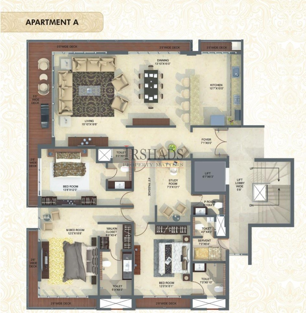 Mittal Luxuria - Type A - Floor Plan