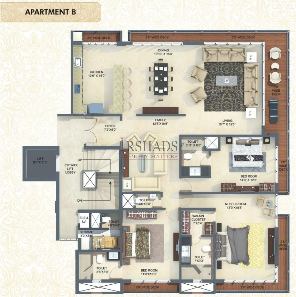 Mittal Luxuria - Type B - Floor Plan
