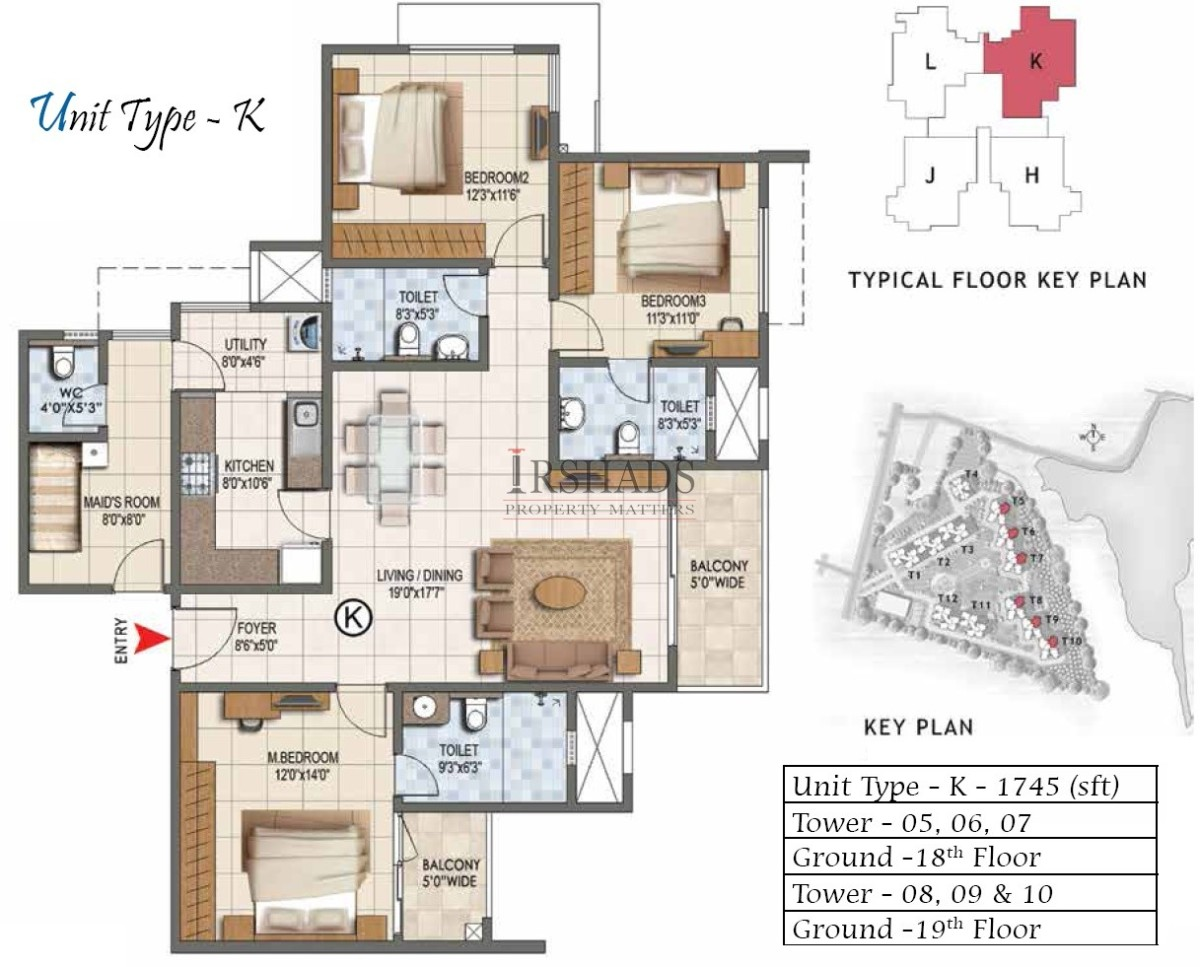Type K - 3 Bedroom + Servant Quarter